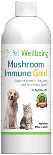 Pet Wellbeing - Mushroom Immune Gold - Natural Alternative Support for Dogs and Cats with Cancer - 8oz (236ml)