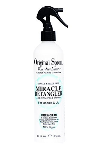 Original Sprout Miracle Detangler. All Natural Hair Moisturizer and Leave-In Conditioner Spray,12 oz by Original Sprout