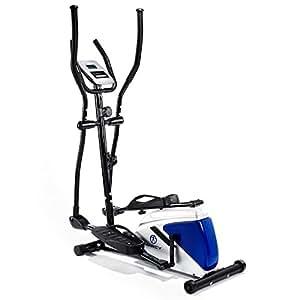 Marcy Azure EL1016–Bicicleta elíptica, Tablet/teléfono Soporte–Negro/Blanco/Azul, un tamaño