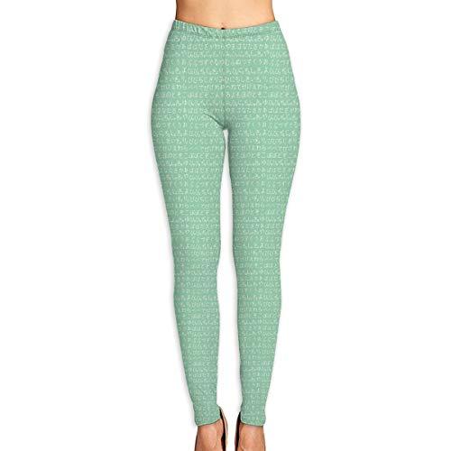 WJM SHOW Women's Japanese Hiragana Jade White Leggings Yoga Long Pants Casual Sweatpants Athletic Gym Pants (Jade Pink Mat Yoga)