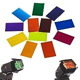 TARION 12 colores de Filtros de gel para speedlite flash Tarion Canon Nikon YONGNUO PIXEL Godox y otras marcas de flash
