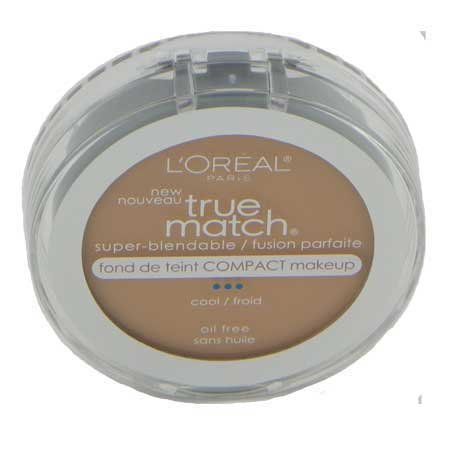 L'Oreal Paris True Match Super-Blendable Compact Makeup, Spf 17, Natural Ivory, 0.30 Ounce, 2 Ea (Pack of 2)