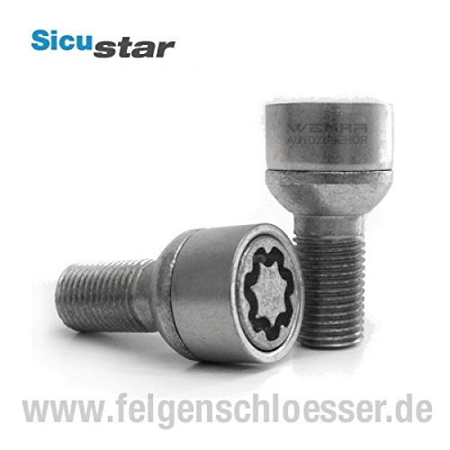 Sicustar Felgenschloss M14x1, 5 Lä nge: 37mm - Kugel R13 - SW 17 Felgenschlösser.de