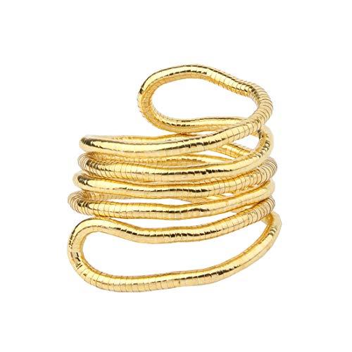 BNQL Bendable Snake Necklace Flexible Multi-Purpose Necklace (Gold) (Metal Necklace Bracelet)