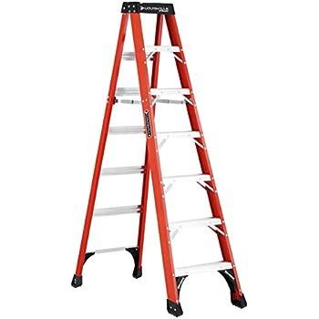 Amazon Com Dewalt Dxl3010 07 7 Feet Fiberglass Stepladder