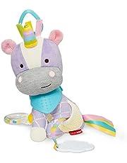 Skip Hop Bandana Buddies Baby Activity and Teething Toy with Multi-Sensory Rattle and Textures, Unicorn