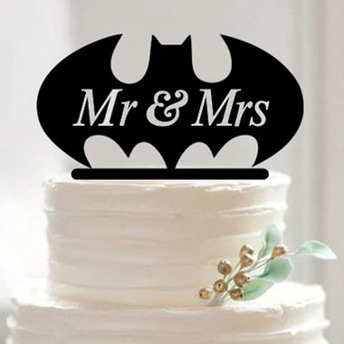 Batman Wedding Cake.The Dark Knight Mr And Mrs Batman Superhero Super Hero Wedding Cake Topper Custom Cake Toppers From Bakell