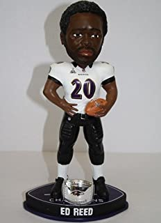 d46a5960521 Baltimore Ravens Ed Reed Forever Collectibles Super Bowl 47 Champ Ring  Bobblehead
