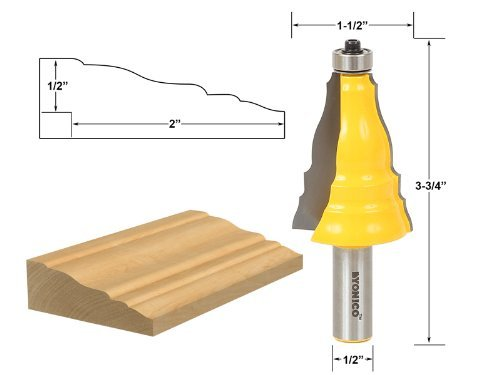 Yonico 16123 Door and Window Casing Router Bit 1/2-Inch Shank by Yonico