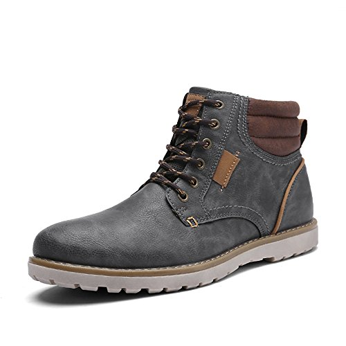 Quicksilk EYUSHIJIA Men's Waterproof Snow Boots Hiking Boot (8 D(M) US, Dark Gray) ()
