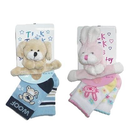 Diseño de conejo de peluche y de la bebé Diseño de cachorro de perro 2pk con