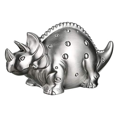 Hipiwe Money Coin Saving Box - Creative Metal Cartoon Retro Dinosaur Piggy Bank Kids Coin Bank Saving Money Pot Box