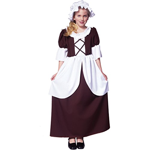 RG Costumes Colonial Girl Costume, Brown/White, ()