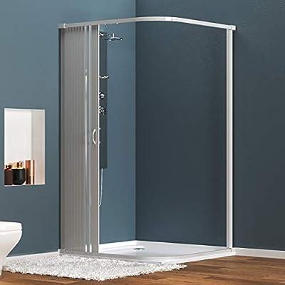 Cabina de ducha de PVC extensible con dos lados dos puertas lado ...