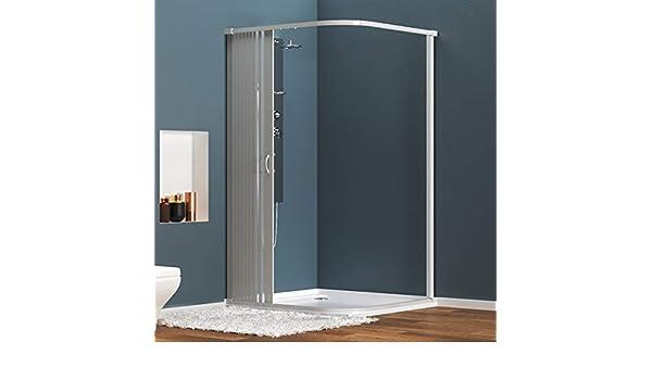 Cabina de ducha de PVC extensible con dos lados dos puertas lado 80/100: Amazon.es: Hogar