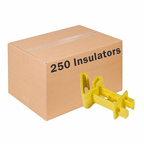 Zareba IT2XY-Z Extender t-Post Insulator, 250 Pack