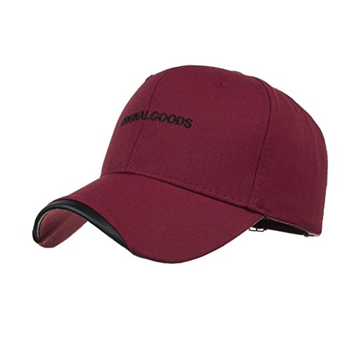 Women Letter Hat Wool Knitted Wine Red - 4