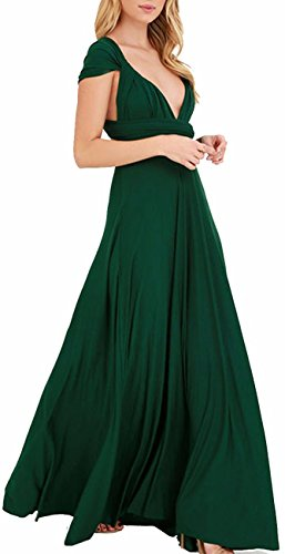 green silk halter dress - 2