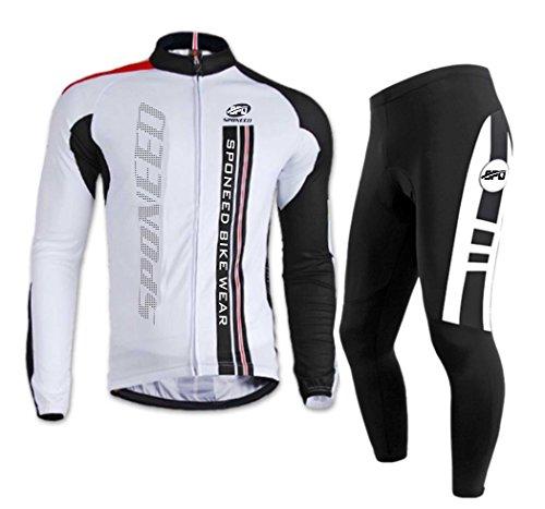 Sponeed Men's Cyclist Jersey Long sleeve Bicycle Uniform Autumn Gel padded Pants