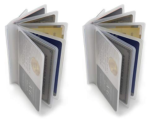 AG Wallets Set of 2 Heavy Duty Vinyl 6 Pages TriFold Mens Wallet Inserts 2.75'' X 3.75''