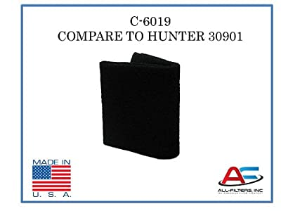 Aftermarket Hunter Air Purifier Carbon Replacement Pre-Filter for Models 30901, 30903, 30907, 30958, and 30959