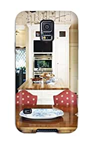 GBALqSe920drtLM Tpu Case Skin Perfect Protector For Galaxy S5 White Kitchen With Red Polka Dot Chairs Dual Stove Dual Washers Amp Unique Chandelier With Nice Appearance