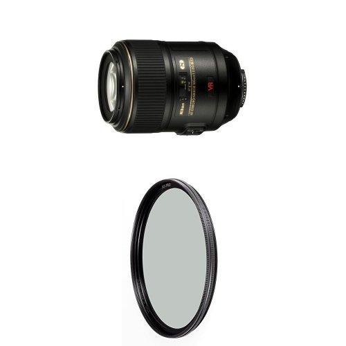 Nikon Auto Focus-S VR Micro-Nikkor 105mm f/2.8G IF-ED Lens w/ B+W 62mm XS-Pro HTC Kaesemann Circular Polarizer