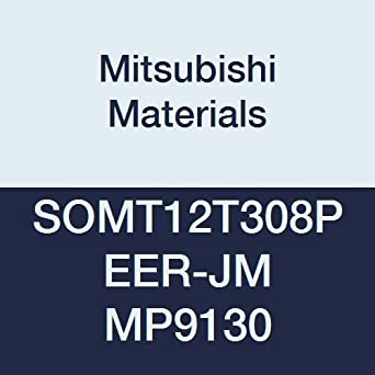0.5 Thick Square Mitsubishi Materials SOMT12T308PEER-JM MP9130 Coated Carbide Milling Insert Round Honing Class M 0.031 Corner Radius Pack of 10