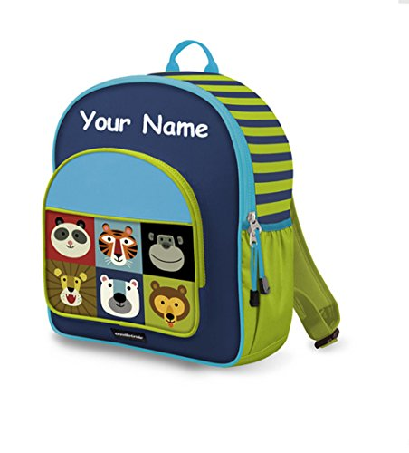 - Personalized Crocodile Creek Kids Jungle Jamboree School or Travel Backpack - 14 Inches
