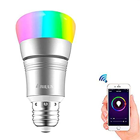 Bazaar ARILUX E27 7W RGBW WIFI Timing APP Controlled LED