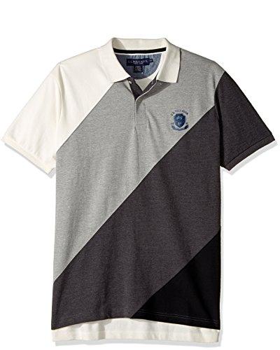 U.S. Polo Assn. Mens Slim Fit Striped Short Sleeve Pique Polo Shirt