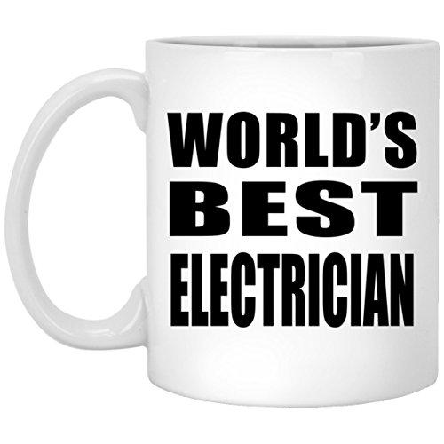Designsify World's Best Electrician - 11 Oz Coffee Mug, Cera