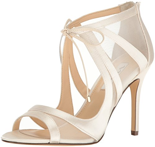 - Nina Women's Cherie-Ym Dress Pump, Ivory Crys Sat/Msh/Lea LA, 10 M US