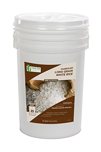 Parboiled Long Grain White Rice Bucket - 329 servings by Food For Health