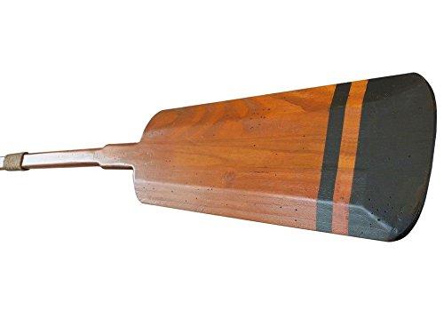 """Wooden Bridgeport Squared Rowing Oar w/ Hooks 62"""" - Beach Dï¾'cor - Wooden Paddle"""