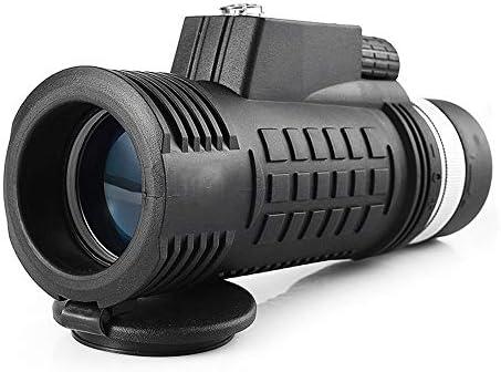 単眼鏡望遠鏡 18x62高倍率ナイトビジョンミニ屋外携帯電話望遠鏡 携帯便利 (Color : Black, Size : M)