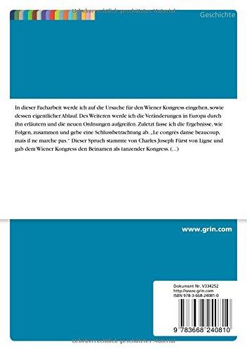 Der Wiener Kongress Und Seine Folgen Für Europa Amazonde Johannes