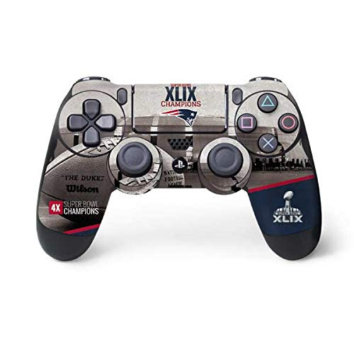 (Skinit Patriots Super Bowl XLIX Champs PS4 Controller Skin - NFL Skin - Ultra Thin, Lightweight Vinyl Decal Protection)
