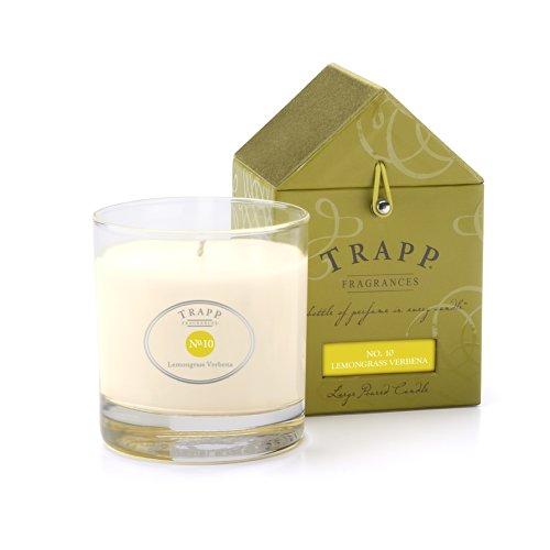 Candle Lemongrass (Trapp Signature Home Collection No. 10 Lemongrass Verbena Poured Scented Candle, 7-Ounce)