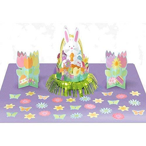 amscan Egg-Stra Special Easter Bunnies and Eggs Table Decorating Kit (9 Piece), Multicolor, 13.70 X 11.80 (9 Year Wedding Anniversary Gift Ideas Uk)