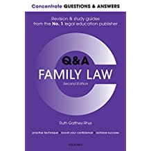 Concentrate Questions and Answers Family Law: Law Q&A  Revision and Study Guide (Concentrate Questions & Answers)