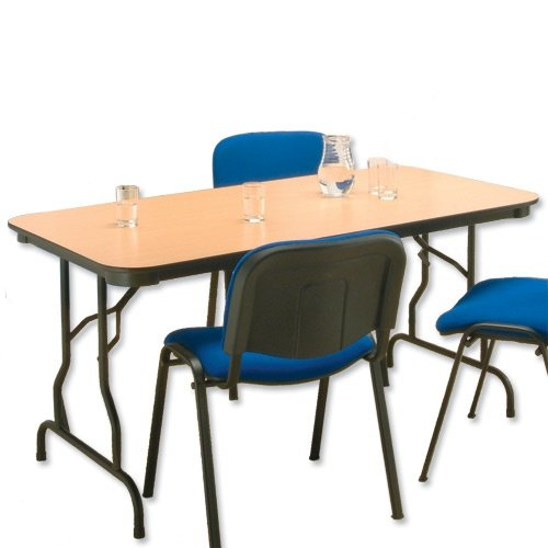 Influx Folding Table with Tubular Frame and Woodgrain Finish W1840xD764xH740mm Beech
