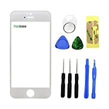 Haobase White Touch Screen Front Glass Lens Replacement For Apple iPhone 5 5C 5S +Free TOOL