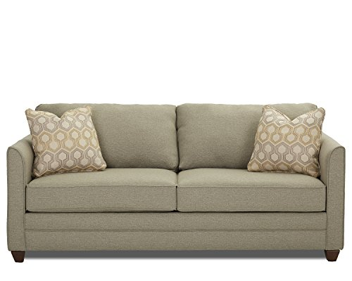 Klaussner Tilly Innerspring Sleeper Sofa, Queen, (Companion Arm Guest Chair)