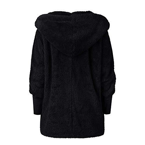 con Cosy Cappotto Gouuohi donna donna Capispalla cappuccio soffice Cappotto Wild Moda Cappotto Super invernale Cappotto qualit Tight qqwIfSH