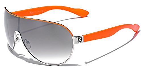 - Men's Flat Top Sport Shied Aviator Sunglasses - Multiple Colors