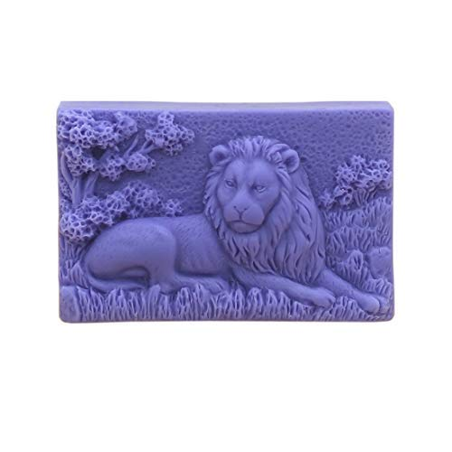 Grainrain Rectangle Lion Craft Art Silicone Soap Mold Craft Molds DIY Handmade soap molds