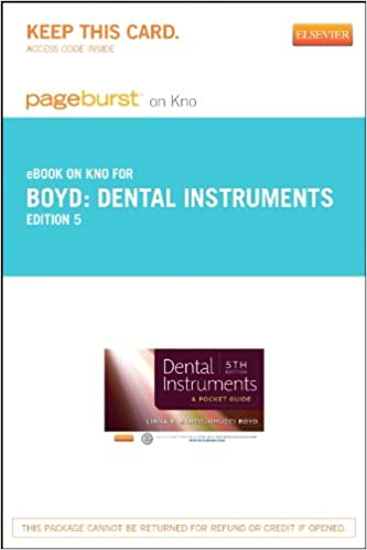 Téléchargements de livres audio gratuits lecteurs mp3 Dental Instruments - Elsevier eBook on Intel Education Study (Retail Access Card): A Pocket Guide, 5e (Littérature Française) PDF RTF