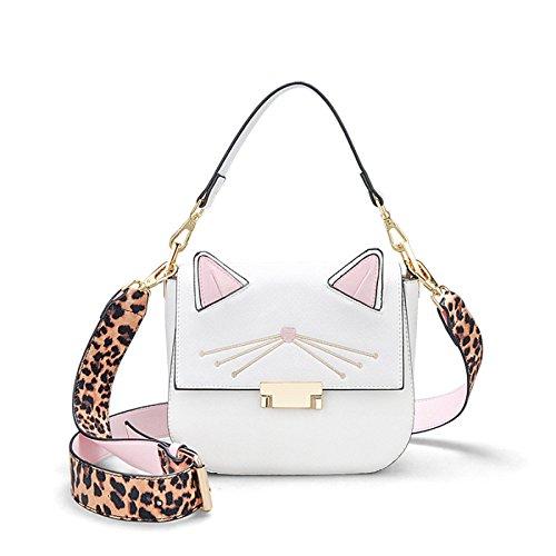 Strap Main Casual Bag Sac DHFUD White Womens Bandoulière à Shoulder PU Cat Mignon xYwPatPqvI