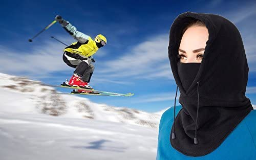 Balaclava Fleece Hood  Windproof Face Ski Mask  Ultimate Thermal Retention  Moisture Wicking with